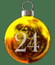 Weihnachtskugel 24